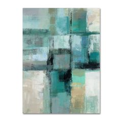 Trademark Fine Art 'Island Hues Crop I' by Silvia Vassileva Painting Print on Wrapped Canvas