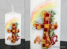 Osterkerze mit Mosaik DW 384 von  Kerzenkunst -  Kreatiwita auf DaWanda.com