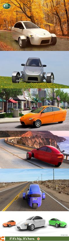 The Elio, a 3-wheeled eco-friendly car for $6800 is available for order now. Details at the link.