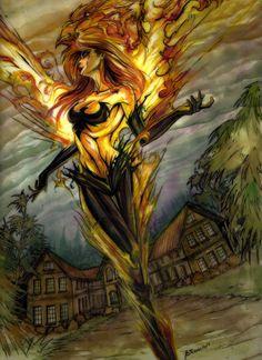 Fiery Seraphim by ~none4ROMiR on deviantART
