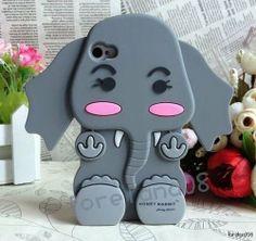 3D Gray elephant iPhone case <3