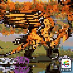 Pixel Dragon, Tigger, Disney Characters, Fictional Characters, Art, Art Background, Kunst, Fantasy Characters, Art Education