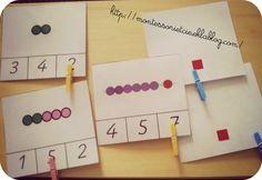 Cartes à compter (perles Montessori)
