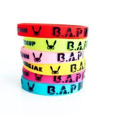 KPOP B.A.P. MATOKI member merchandise BAP accessories 3D 6pc MATO wristband BangYongGuk HimChan DaeHyun YoungJae Zelo color bracelet BABY http://www.amazon.com/dp/B00FXJAQB6/ref=cm_sw_r_pi_dp_3HDiub0DXSRMF Jewelry Bracelets, Bangles, Jewelry Watches, Bap, Colorful Bracelets, Coffee Cans, Fashion Jewelry, Concert, Polyvore