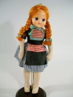 Vintage Polish Cloth Doll Traditional Clothing Poland 1950's Googly Eyes | eBay