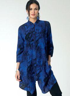 V1456   Misses' Mandarin Collar Tunics   Vogue Patterns