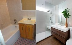 Before & After – A Small Bathroom Renovation By Paul K Stewart #smallbathroomrenovations