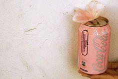 pink coca cola can