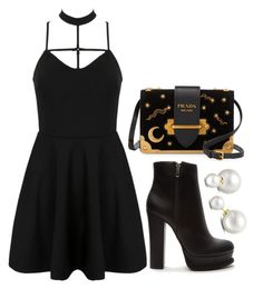 """""""Untitled #543"""" by gabbyriera on Polyvore featuring Prada, WithChic, Forever 21 and Allurez"""