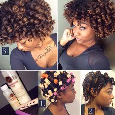 Perm rod sets, natural hair, no heat, using Fortify'd Naturals @DayeLaSouk