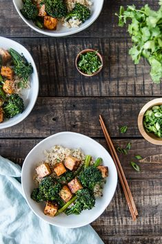 Broccolini Tofu Recipes, Real Food Recipes, Vegetarian Recipes, Dinner Recipes, Healthy Recipes, Healthy Food, Food Dishes, Main Dishes, Whole 30 Snacks