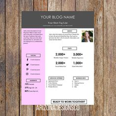 Feminine One Page Resume Template  Creative Resume Resume