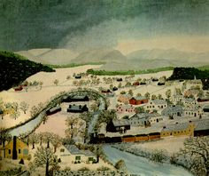 landscape painting by Grandma Moses