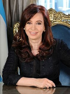 Cristina Kirchner is the and current President of Argentina and widow of former president Néstor Kirchner. History Of Argentina, Cristina Fernandez, President Of Argentina, Womens Month, Hispanic Women, Former President, Current President, Gorgeous Women, Ties