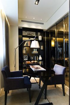 7 Modern Office Interiors In Different Styles, Home Office Interior Design  Trends   Blue Walls, Floor Decor And Room Colors