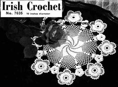 Irish Crochet 7635    Old Favorites  Clarks & J.P. Coats Threads  Book No. 223