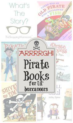 Arrrrgh! Pirate Books for kids to celebrate Talk Like a Pirate Day.