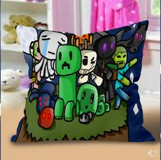 Best Minecraft cartoon games Pillow Cases
