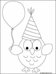 This Is A Free Party Owl Coloring Page Great For The New Year Birthdays Or Any Celebration