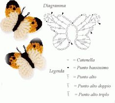 With over 50 free crochet butterfly patterns to make you will never be bored again! Get your hooks out and let's crochet some butterflies! Appliques Au Crochet, Crochet Motifs, Crochet Diagram, Crochet Chart, Crochet Stitches, Crochet Patterns, Knitting Patterns, Crochet Diy, Love Crochet