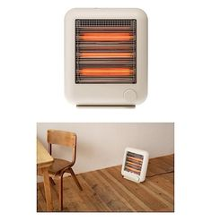 We have our eye on these demure space heaters by famed Japanese industrial designer Naoto Fukasawa for Plus Minus Zero. Infrared electric heaters send out Infrared Heater, Mudroom, Industrial Design, Home Office, Home Appliances, Elegant, House, Gadgets, Space