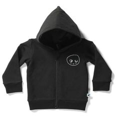 Minti baby furry zip up jumper in black with smilie face on the front. Bucket And Spade, Love You Babe, Monochrome, Baby Gifts, Zip Ups, Jumper, Black And White, Hoodies, Sweaters