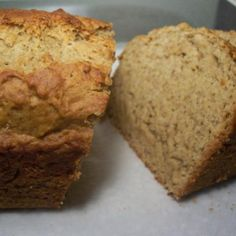 No eggs, no milk banana bread-- very good, although could use slightly more bananas. Added cinnamon, chocolate chips, and added a little more baking soda to the mix.