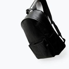 EMBOSSED RUCKSACK from Zara