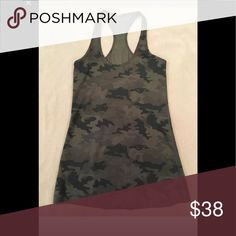 dd50a2cb8c Lululemon Camo racerback tank Great condition! Green camo Lululemon cool  racerback tank
