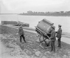 Royal Engineers manning a searchlight on the Rhine 1919