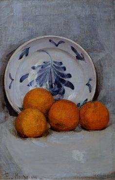 Piet Mondrian Still Life with Oranges 1899 No kidding!ve never seen this one by Mondrian. Piet Mondrian, Painting Still Life, Still Life Art, Paintings I Love, Famous Still Life Paintings, Dutch Still Life, Abstract Paintings, Beautiful Paintings, Dutch Painters