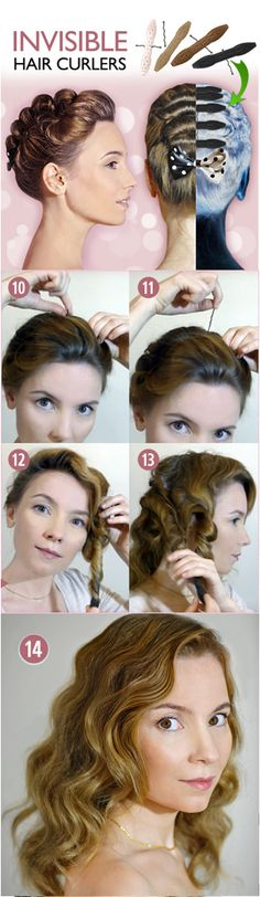 Invisible Curlers! Heat less care for your hair at http://icurlers.com.. OMG SO HOW TO LOOK CUTE WHILE CURLING YOUR HAIR