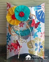 Pillow Box Challenge- Nadine Carlier- The Little Blue House