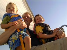 Son and grandsons sailing together