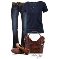 jeans style, blue, bag, necklac, casual outfits, shoe