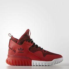 Billige Adidas Herren Originals Trainers TUBULAR X Rot/Schwarz (S74929) Shoes Günstig