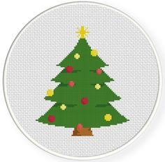 Christmas Tree PDF Cross Stitch Pattern by DailyCrossStitch