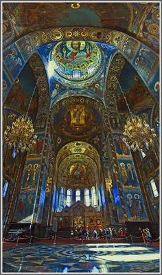 Church of the Savior on Blood inside - St. Petersburg