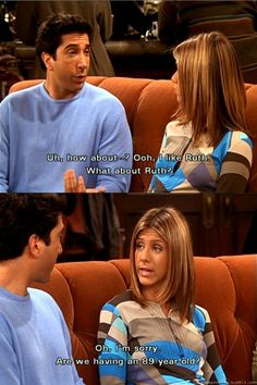 Friends - Rachel & Ross trying to name the baby