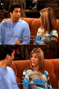 I love Ross and Rachel.