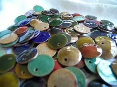 Use pennies for enameling - cheaper and sturdier than most round copper discs! Great size for jewelry