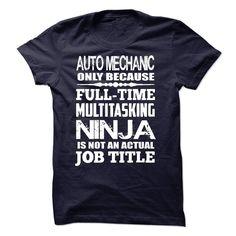 Multitasking Ninja Auto Mechanic T Shirt, Hoodie, Sweatshirt