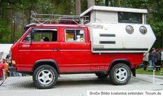 VW T3 Doka Road Ranger Camping Aufbau TriStar Syncro Hardtop Alu Koffer Tischer