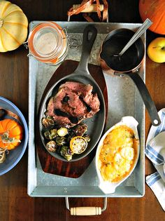 Poor Man's Mock Prime Rib, Ruth's Chris Potatoes au Gratin, Restaurant Style Brussels Sprouts with Lemon and Caper Sauce Copycat Recipes, New Recipes, Cooking Recipes, Recipies, Favorite Recipes, Vegetarian Recipes, Dinner Recipes, Potatoes Au Gratin, Parmesan Potatoes