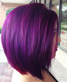 magenta purple Hair