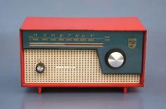 Philips BOX97U 1959 Vintage Love, Vintage Colors, Retro Vintage, Lps, Radio Design, Retro Radios, Antique Radio, Transistor Radio, Record Players