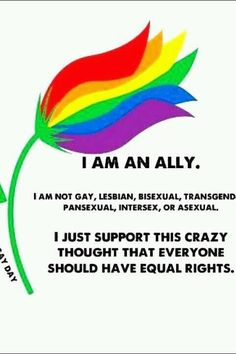 It's about human rights. We are all equal!  Or we should be all equal---so much for Christians, and so called enlightened men.  Or how about love one another??