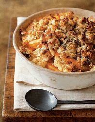 The vegetables in our Pumpkin and Cauliflower Casserole are cooked to tender perfection in a seasoned cream sauce and topped with a mix of roasted pumpkin seeds, bread crumbs, herbs, and goat cheese.Recipe: Pumpkin and Cauliflower Casserole Thanksgiving Side Dishes, Thanksgiving Recipes, Fall Recipes, Holiday Recipes, Christmas Recipes, Yummy Recipes, Healthy Recipes, Holiday Ideas, Thanksgiving 2013