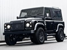 Car Crush: Land Rover Defender Harris Tweed Edition by Kahn Design