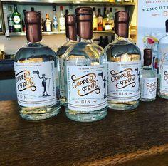 Slow crafted in Exmouth Devon. The Spirit of Exmouth. Liquor Bottles, Vodka Bottle, London Dry Gin, Bottle Design, Packaging Design Inspiration, Devon, Alcoholic Drinks, Copper, Spirit